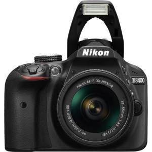 Câmera Digital Nikon DSLR D3400 - 24.2Mp.  Com lente Af-p Dx 18-55mm Vr