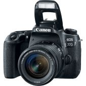 Câmera Digital Canon DSLR EOS 77D - 24.2Mp. - Com Lente 18-55mm f/3.5-5.6 STM