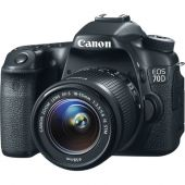 Câmera Digital Canon DSLR EOS 70D - 20.2Mp. - Com Lente 18-55mm  f/3.5-5.6 STM