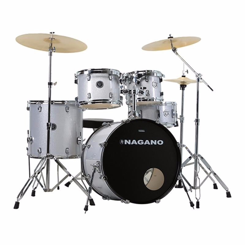 Bateria Nagano Garage Rock 22 Grey Sparkle By Tagima