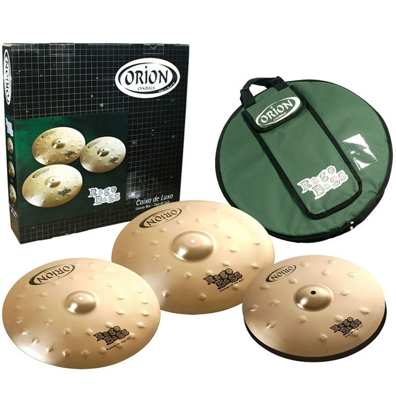 Kit Prato Orion Rage Bass RB90 Dark Set c/ Bag + Splash 10