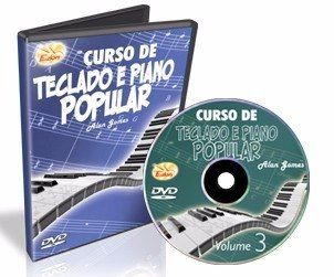 Dvd Edon Curso de Teclado e Piano Popular Vol 3