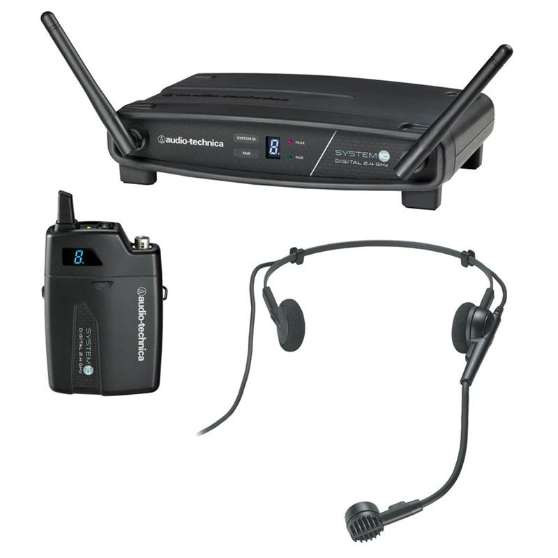 Microfone Sem Fio Audio Technica ATW1101/H Headset