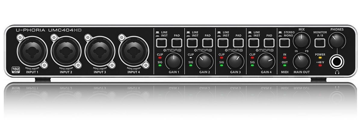 Interface de Áudio Behringer UMC404HD U-Phoria