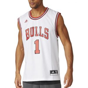 Regata Adidas NBA Chicago Bulls - Derrick Rose 1  Branca