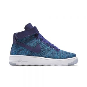 TÊNIS NIKE AIR FORCE 1 FLYKNIT MID BLUE