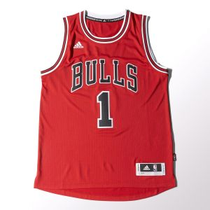Regata Adidas NBA Chicago Bulls - Derrick Rose - Vermelha