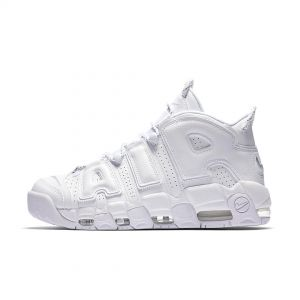 Nike Air More Uptempo White on White