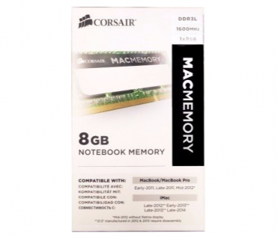 Memória Ddr3 1x8gb 1600 Mhz Corsair - Mac Apple