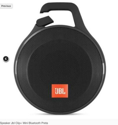Speaker Jbl Clip+ Mini Bluetooth Preta