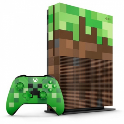 CONSOLE XBOX ONE S MINECRAFT LIMITED EDITION BUNDLE - 1TB, COMPATÍVEL 4K, WIRELESS