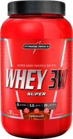 SUPER WHEY 3W INTEGRALMÉDICA CHOCOLATE - 907g