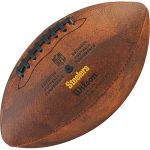 Bola de Futebol Americano Wilson THROWBACK NFL Jr. PITTSBURGH STEELERS  - foto 2