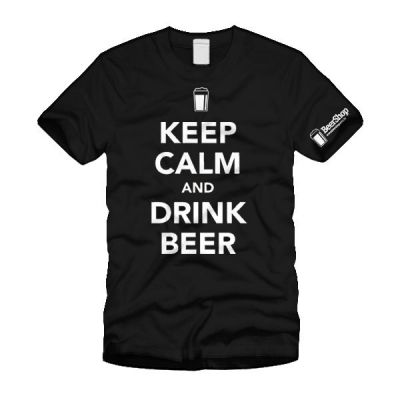 Camiseta Keep Calm and Drink Beer (Preta)