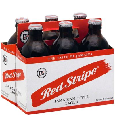 6 Pack Red Stripe