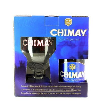 Kit Chimay Blue 3 Garrafas com Copo