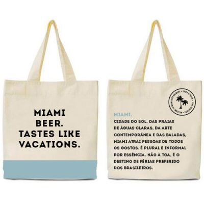 Ecobag Flamingo Beer Azul