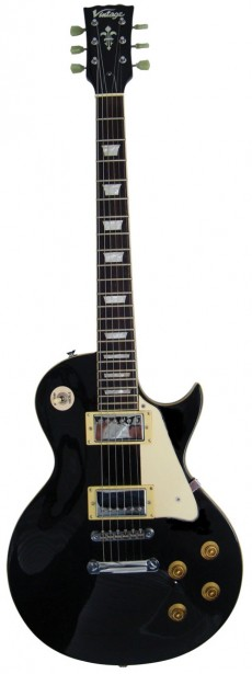 Guitarra Vintage V100 BLK | LP | Black