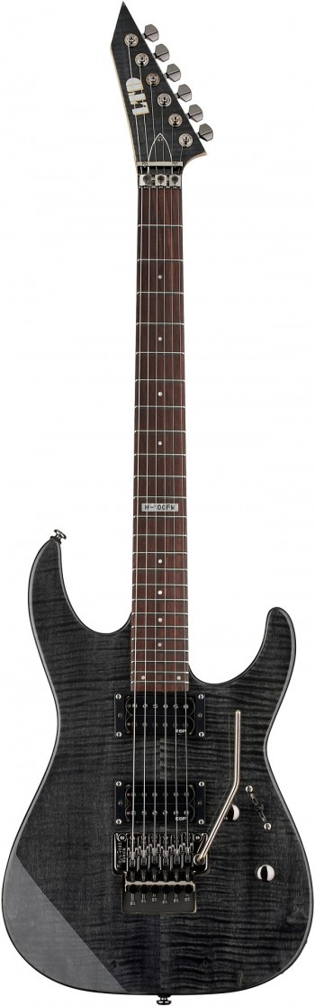 Guitarra ESP LTD M-100FM STBLK | Floyd Rose | Flamed Maple | ST Black  - foto principal 1