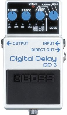 Pedal Boss DD-3 | Digital Delay | Delay entre 12.5ms até 800ms
