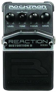 Pedal Rocktron Reaction II | Distortion | Para Guitarra | Controles Level, Tone, Focus e Drive