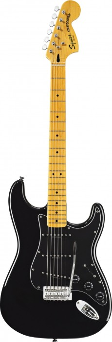 Guitarra Fender Squier Vintage Modified 70`s | Stratocaster | SSS | Escala em Maple | 0301227 | Preta (502)