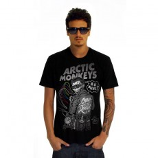 Camiseta Amply Artic Monkeys | One for the Road | Algodão | Lavagem Brush | Preta