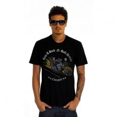 Camiseta Amply Easy Rider Rock N`Roll Chopper | Preta Brush