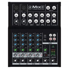 Mesa de Som Mackie Mix 8 | 8 Canais | Compacta | Phantom Power 48V