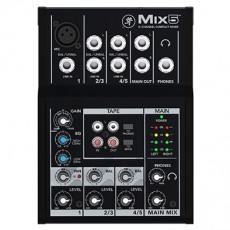 Mesa de Som Mackie Mix 5 | 5 Canais | Compacta | Phantom Power 48V