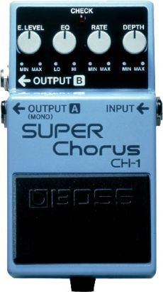 Pedal Boss CH-1 | Super Chorus | Guitarra