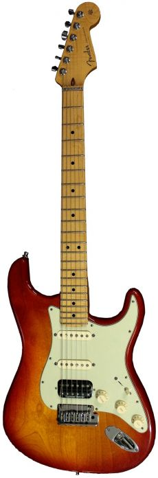 Guitarra Fender American Custom Shop Deluxe Stratocaster | 923 1003 | HSS | Maple | USA | Case | Antique Cherry Burst (170)