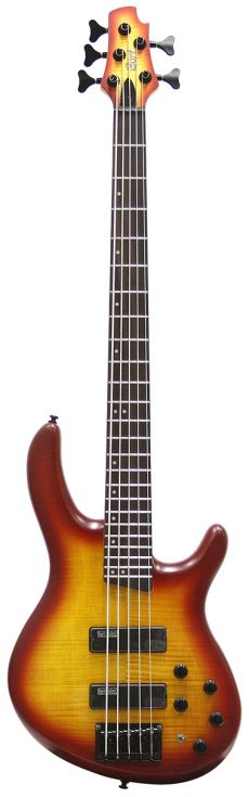 Baixo Cort Art Pro V | 5 Cordas | Ativo | OCRS (Open pore Cherry Red Sunburst)