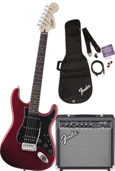 Kit Fender Squier Guitarra Affinity Stratocaster Pack HSS | 030 1614 | Amp Fender Frontman 15G | Candy Apple Red