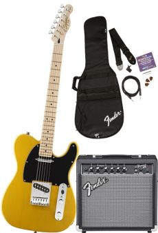 Kit Fender Squier Guitarra Affinity Telecaster Pack SS | 030 1618 | Amp Fender Frontman 15G | Butterscotch