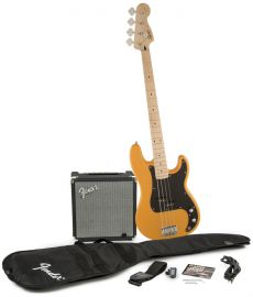 Kit Fender Squier Baixo Precision Bass Affinity Pack | 030 1672 | Amp Fender Rumble 15G | Butterscotch