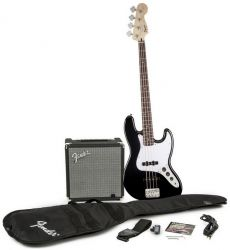 Kit Fender Squier Baixo Jazz Bass Affinity Pack | 030 1676 | Amp Fender Rumble 15G | Preto