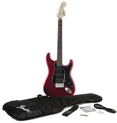 Guitarra Fender Squier Affinity Strato HSS + Cabo + Capa + Correia | Candy Apple Red