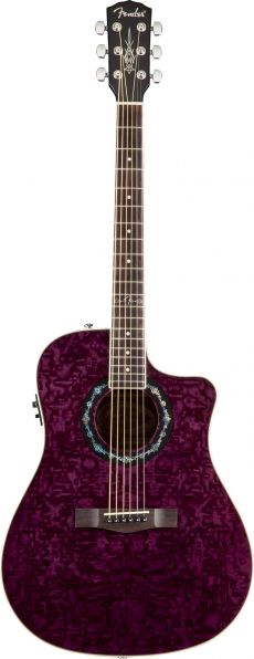 Violão Fender T-Bucket™ 300CE | 096 8079 | Dreadnought | Aço | Transparent Violet (075)