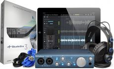 Interface Presonus AudioBox iTwo Studio | Mic Condensador M7 | Fone de Ouvido HD7