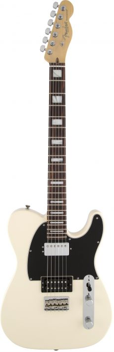 Guitarra Fender American Standard Telecaster HH Block LTD Edition | 017 1502 | Case | Olympic White (705)