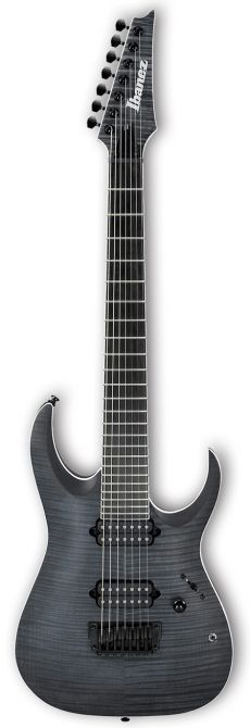Guitarra Ibanez RGAIX7FM | 7 Cordas | Iron Label | Transparent Gray Flat (TGF)