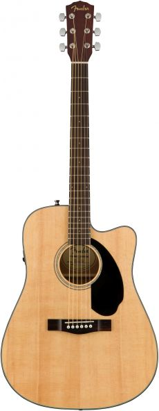 NOVO Violão Fender CD 60SCE | 096 1704 | Solid Top | Natural (021)