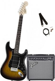 Kit Fender Squier Guitarra Affinity Stratocaster Pack HSS | 030 1814 | Amp Fender Frontman 15G | Brown Sunburst (032)