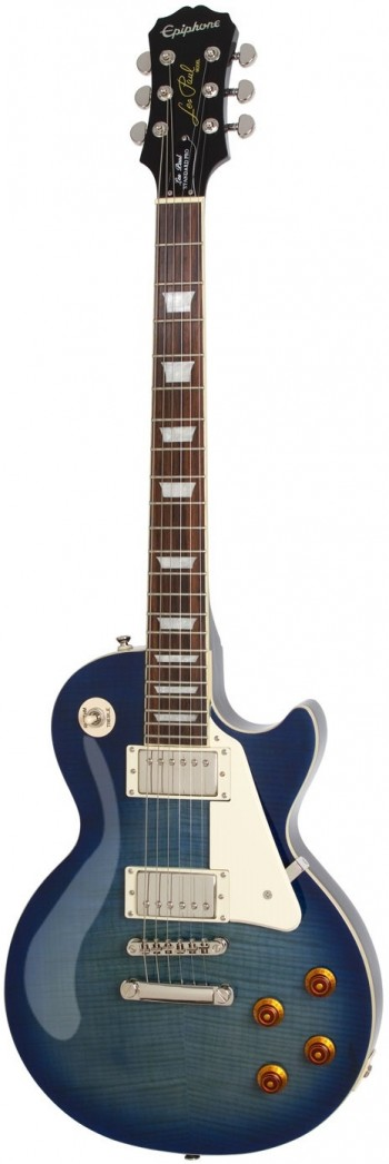 Guitarra Epiphone Les Paul Standard Plus Top Pro | Flamed Top | Trans Blue  - foto principal 1