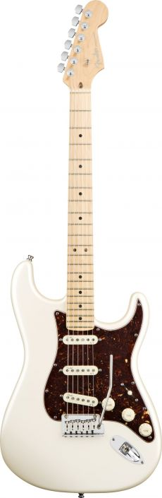 Guitarra Fender American Deluxe Stratocaster MN | 0119002 | SSS | Case |  Olympic Pearl (723)