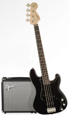 Kit Fender Squier PJ Bass Affinity Pack | 030 1972 | Amp Fender Rumble 15G | Preto