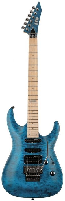 Guitarra ESP LTD MH-103 QM | Floyd Rose | Quilted Maple | STB (See Thru Blue) | SALDÃO