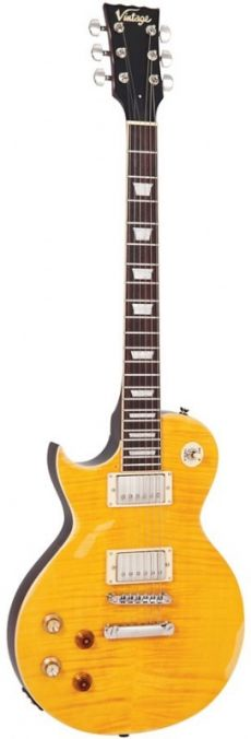 Guitarra Vintage LV100 MR PGM | Canhota | Relic | Lemon Drop