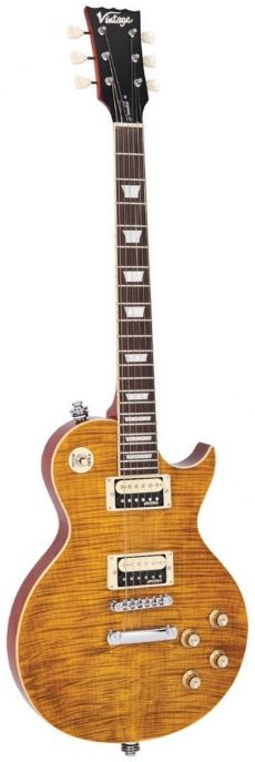 Guitarra Vintage V100 AFD Paradise | Flamed Maple | Amber